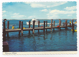 New Jersey Shore Fishing Pier Boat Fishermen Vintage Postcard 4X6 Thulin... - $4.74