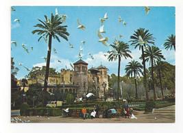 Spain Sevilla Plaza de America Pigeons Doves Seville Vtg Postcard 4X6 - $8.54