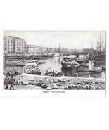Naples Italy Napoli Porto Mercantile Harbor Boats Vintage Postcard - $7.59