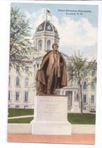 Concord NH Pierce Memorial Monument Statue New Hampshire Postcard - $4.99