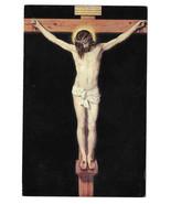 Velazquez Crucifixion Jesus Christ Crucified Prado Museum Vtg Art Postca... - $7.40