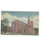 NC Greensboro Catholic Church Our Lady of  Grace Vtg 1953 Linen Postcard - $9.30