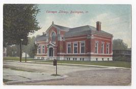 Burlington VT Carnegie Library ca 1910 Leighton Postcard - $5.69
