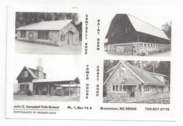 Brasstown NC John C Campbell Folk School Buildings 1998 Postcard - $5.69