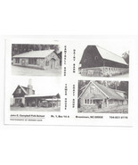 Brasstown NC John C Campbell Folk School Buildings 1998 Postcard - $5.69