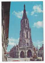 Berne Switzerland Cathedral Moses Fountain Mosesbrunnen Vintage Postcard 4X6 - $4.74