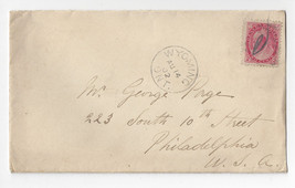 1902 Canada Cover Sc# 77 Wyoming Ont. CDS to Phila PA US - $6.36