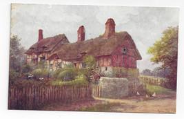 UK Ann Hathaways Cottage Stratford on Avon J Salmon W.W. Quatremain Post... - $5.69