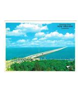 LA Lake Pontchartrain Causeway Bridge New Orleans Louisiana Vtg Postcard... - $6.36