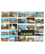 Spain Cadiz Multiview Vtg Chrome Postcard Continental 4X6 - $6.36