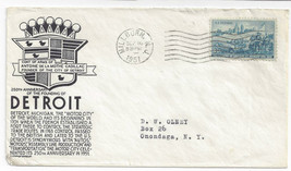 1951 250th Anniversary Founding of Detroit MI Stephen Anderson Cachet Sc... - $4.74