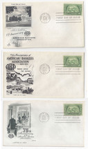 987 American Bankers 3 Diff First Day Covers Art Craft Fleetwood Artmast... - $4.74