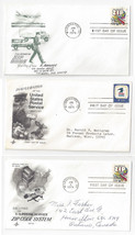 1396 1511 Postal Service Emblem Zip Code 3 First Day Covers Cachet FDC s - $5.69