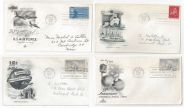 C38 C43 C49 Air mail FDC s 4 Different First Day Cachet Covers - $5.69
