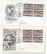 1107 Geophysical Year FDCs 2 First Day Covers Fleetwood Artmaster Blocks... - $5.69
