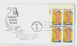 FDC Sc# 1319 House of Farnum Cachet Great River Road Plate Blk 4 First D... - $4.99