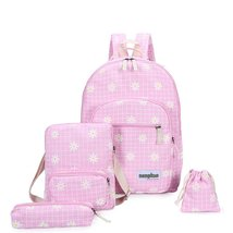 Samaz 4Pcs Canvas School Backpack for Girls School Bags for Teen Girls - $29.99