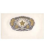 Cigar Box Inner Label El Weldo Embossed Star Gold Coins - $4.74