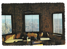 AZ Grand Canyon Lodge North Rim Interior Lounge Vtg Postcard 4X6 Arizona - $7.59