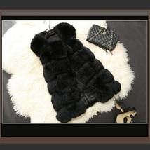 Many Colors Fashion Long Hair Raccoon Dog Fox Fur Long Sleeveless Faux Fur Vest image 2
