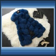 Many Colors Fashion Long Hair Raccoon Dog Fox Fur Long Sleeveless Faux Fur Vest image 3