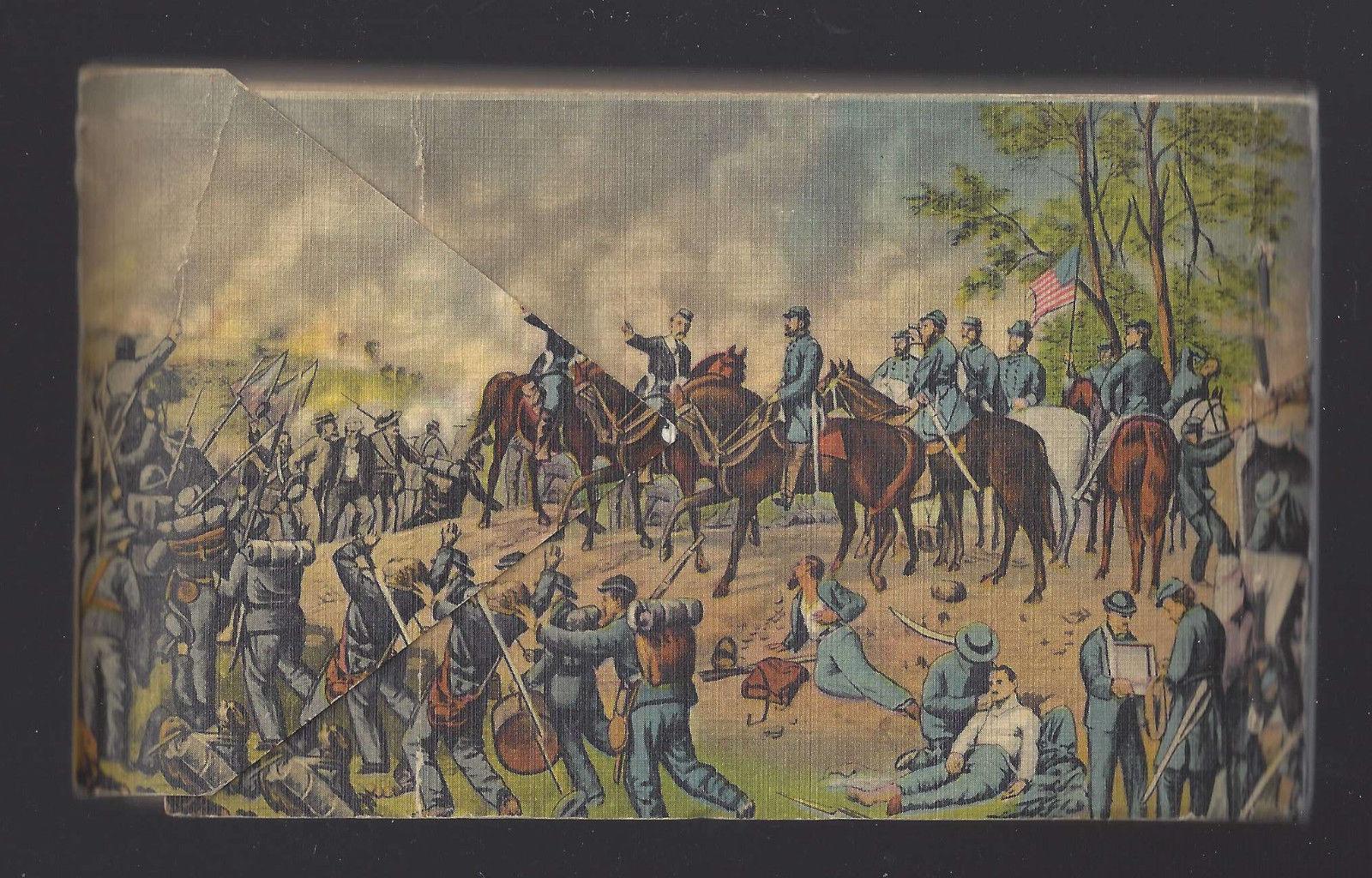 PA Gettysburg Souvenir Booklet 25 Full Size Detachable Linen Post Cards