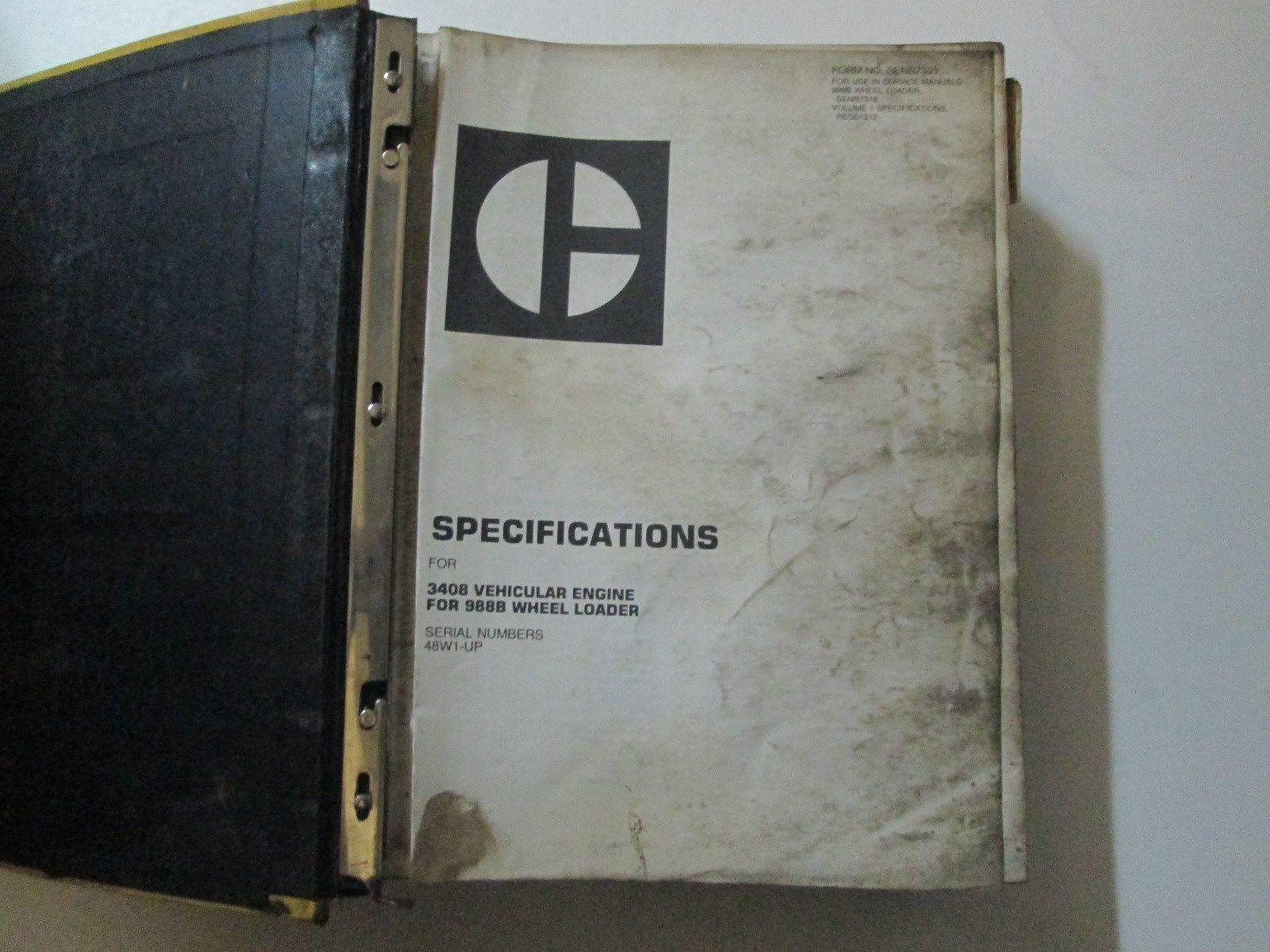 Caterpillar 988B Wheel Loader Service Manual and 50 similar