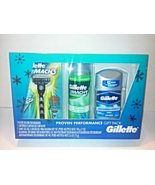 New Gillette Mach3 Razor + Fit All Cartridge + Shaving Gel + Deodorant G... - $14.00
