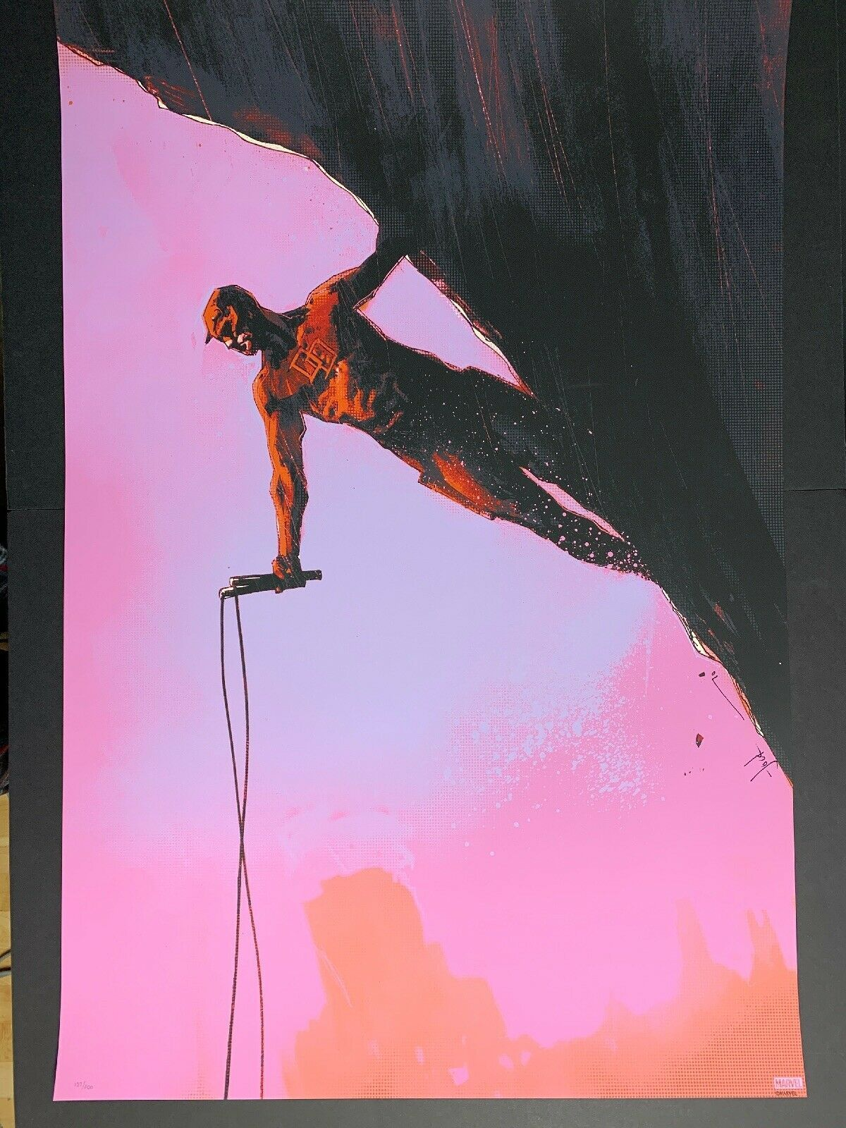 Primary image for Daredevil by Jock 24x36 Grey Matter Art print poster 137/200 Marvel