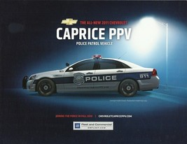 2011 Chevrolet CAPRICE PPV brochure sheet card Police Interceptor Pursuit - $6.00