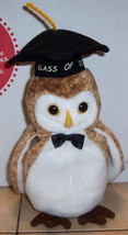 TY WISEST The Owl Beanie Baby 2000 plush toy - $5.94
