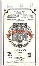 1984 MLB Baseball All Star Game Ticket Stub San Francisco Giants - $88.83