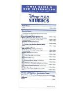 2004 walt disney world Disney MGM Studios Times guide Flyer April 18-24 - $9.50