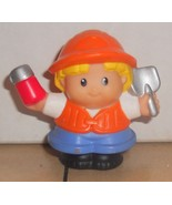 Fisher Price Current Little People Construction Worker Holding Shovel FPLP - $5.90