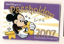walt disney world ticket pass holder 2007 - $9.50