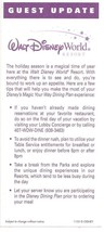 2005 walt disney world Guest Update Flyer - $9.50