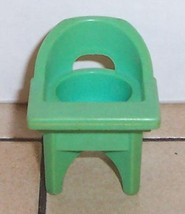 Vintage 80's Fisher Price Little People Blue High Chair FPLP - $5.90