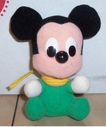 "Walt Disney MICKEY MOUSE 4"" plush stuffed toy Rare Vintage #3 - $5.94"