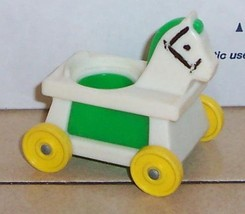 Vintage 80's Fisher Price Little People Green Riding Horse #656 FPLP - $5.90