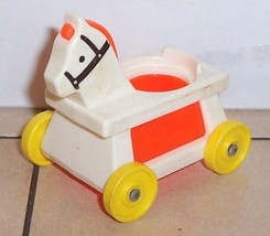 Vintage 80's Fisher Price Little People Orange Riding Horse #656 FPLP - $5.90