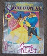 1993 Walt Disney's World On Ice Beauty and the Beast Program Vintage Rar... - $44.55