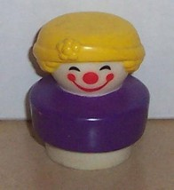 Vintage 90's Fisher Price Chunky Little People Clown figure #2373 FPLP - $5.90