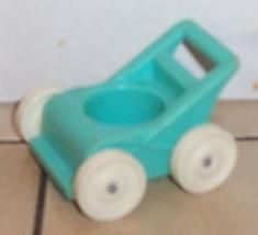 Vintage 80's Fisher Price Little People Blue Stroller #761 2504 FPLP - $5.90