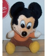 "Walt Disney MICKEY MOUSE 6"" plush stuffed toy Rare Vintage - $5.00"