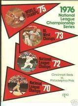 1976 NLCS program Philadelphia Phillies @ Cincinnati Reds - $70.13