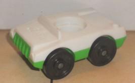 Vintage 80's Fisher Price Little PeoplePassenger Car 1 seater white/gree... - $5.90