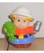 Fisher Price Current Little People Construction Worker Holding Thermos FPLP - $5.90