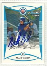 Matt Cerda signed autographed card 2008 bowman prospects - $9.50