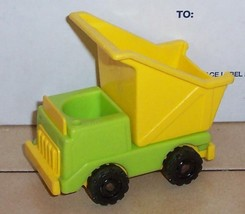 Vintage 80's Fisher Price Little People Dump Truck #942 Lift Load Lumber... - $11.30