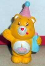 1984 Kenner Care Bears Birthday Bear Mini Pvc Figure Vintage 80's #3 - $14.00